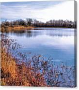 January Bass Pond 2 2012 Canvas Print