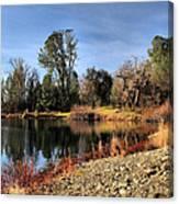 January Bass Pond 2012 Canvas Print