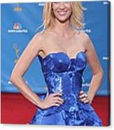 January Jones Wearing An Atelier Canvas Print