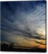 January Sunset 2012 Canvas Print