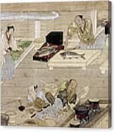 Japan: Kitchen, C1375 Canvas Print