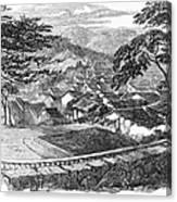Japan: Nagasaki, 1858 Canvas Print