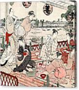 Japan: Restaurant, C1786 Canvas Print