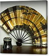 Japanese Fan And Pot Canvas Print