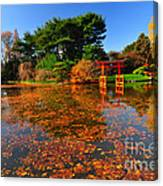 Japanese Garden Brooklyn Botanic Garden Canvas Print