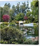 Japanese Garden Panorama 1 Canvas Print