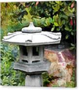 Japanese Garden Stone Snow Lantern Canvas Print