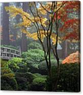 Japanese Gardens Fall Canvas Print