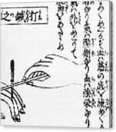 Japanese Illustration Of Moxa Canvas Print