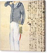 Japanese Print Of An American Sailor Canvas Print