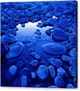 Jasper - Blue Boulders Canvas Print