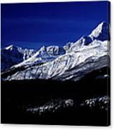 Jasper National Park In Winter Time Canvas Print