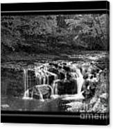 Java Falls Monochrome Canvas Print