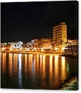 Javea Port At Night Canvas Print