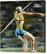 Javelin Thrower Canvas Print