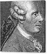 Jean Le Rond Dalembert, French Polymath Canvas Print