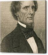 Jefferson Davis, President Canvas Print