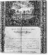 Jefferson: Degree, 1820 Canvas Print