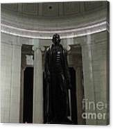 Jefferson In The Dark Canvas Print
