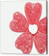 Jelly Candy Heart Flower 1 Canvas Print