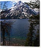 Jenny Lake In The Grand Teton Area Canvas Print