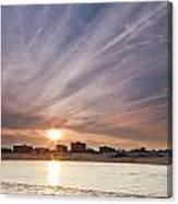 Jersey Shore Wildwood Crest Sunset Canvas Print