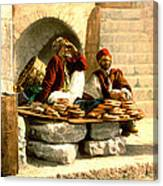 Jerusalem Bread Sellers 1895 Canvas Print