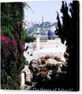 Jerusalem Throne Of Yahweh Canvas Print