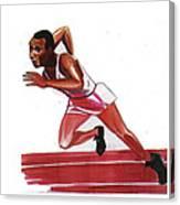 Jesse Owens Canvas Print