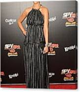 Jessica Alba Wearing A Dress By Dolce & Canvas Print