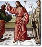 Jesus & Thomas Canvas Print
