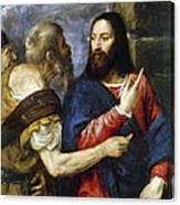 Jesus & Tribute Money Canvas Print