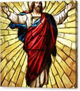 Jesus Christ Stained Glass Canvas Print