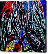 Jesus Meets Mary On Calvary Canvas Print