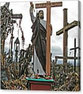 Jesus On The Hill Of Crosses. Lithuania Canvas Print