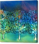 Jeweled Trees Canvas Print