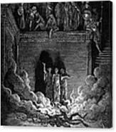 Jews In Fiery Furnace Canvas Print