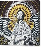 Jimi With Wings Canvas Print