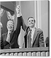Jimmy Carter And Walter Mondale Canvas Print