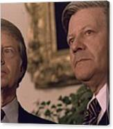 Jimmy Carter Meeting With German Canvas Print