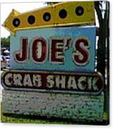 Joe's Crab Shack Canvas Print
