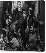 John Brown Meeting Slave Mother Canvas Print