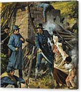 John Brown On 30 August 1856 Intercepting A Body Of Pro-slavery Men Canvas Print