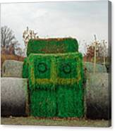 John Deer Made Of Hay Canvas Print