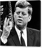 John F. Kennedy, Stating That The U.s Canvas Print