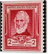 John Greenleaf Whittier Postage Stamp Canvas Print