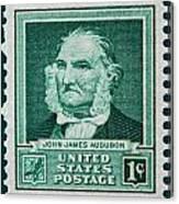 John James Audubon Postage Stamp Canvas Print
