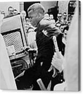 John Lewis Being Ushered Into A Police Canvas Print