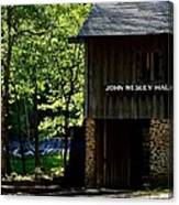 John Wesley Halls Gristmill Canvas Print