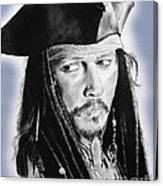 Johnny Depp As Captain Jack Sparrow In Pirates Of The Caribbean II Canvas Print